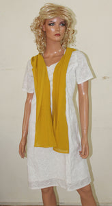 Mustard Long Shawl Dupatta Designer Long Stole Fashion Street Stole