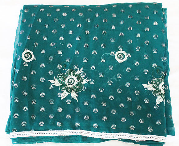 Sea Blue Saree