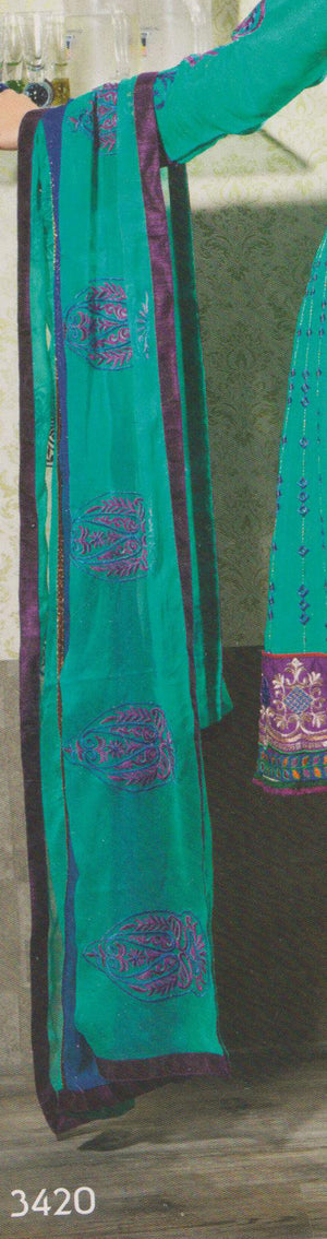 Load image into Gallery viewer, Mystic Beauty of Shades New Patterns Anarkali Churidar Size 40
