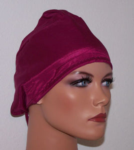 Galore Satin Tie Back Underscarf Cap