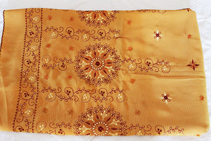 Brownish Yellow Saree