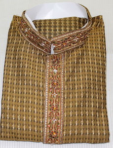 Indian Mens Kurta Salwar Jacquard Free Shawl Size Medium M40