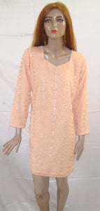 Peach Indian Long Kurta