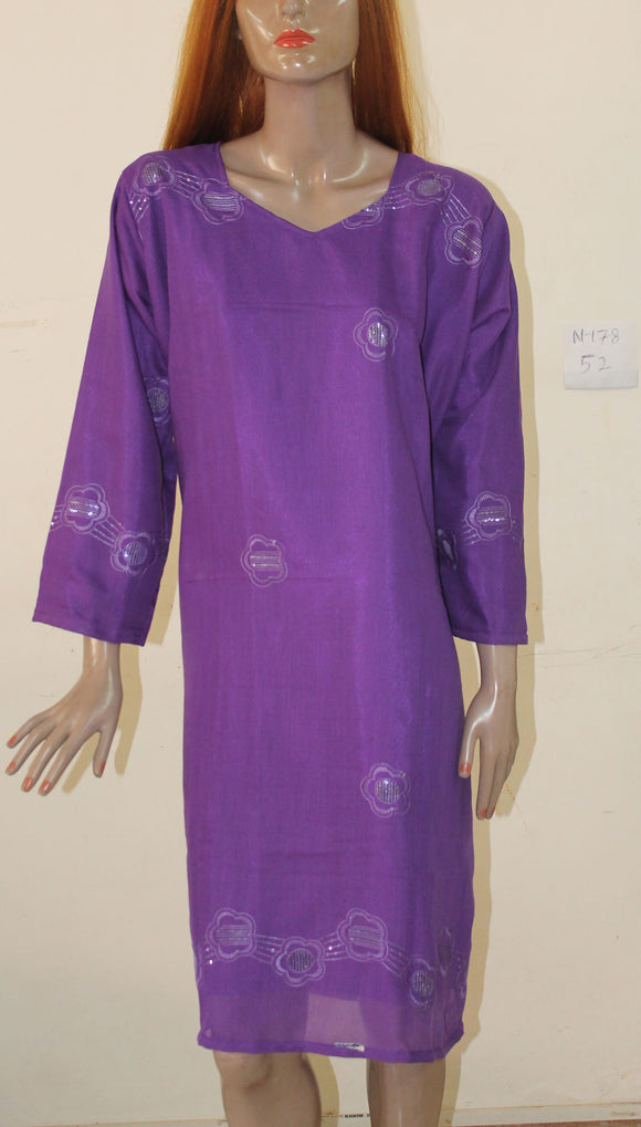 Purple N178 Cotton Cool Cool Collection Summer Wear Long Plus size 52