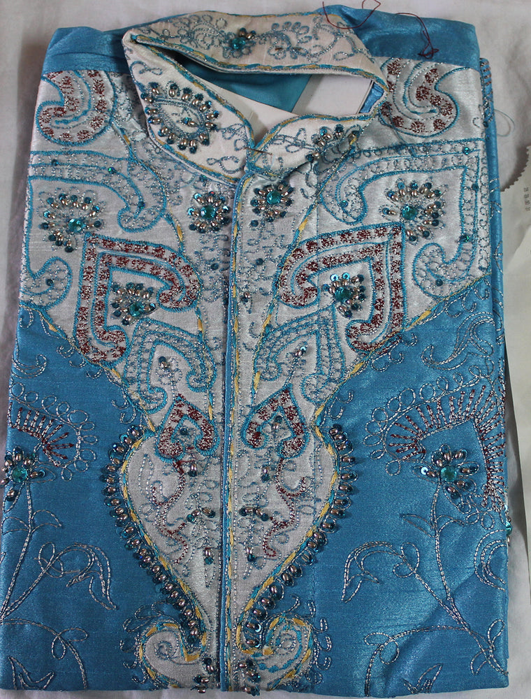 Blue  boys Kurta sherwani set Age 4