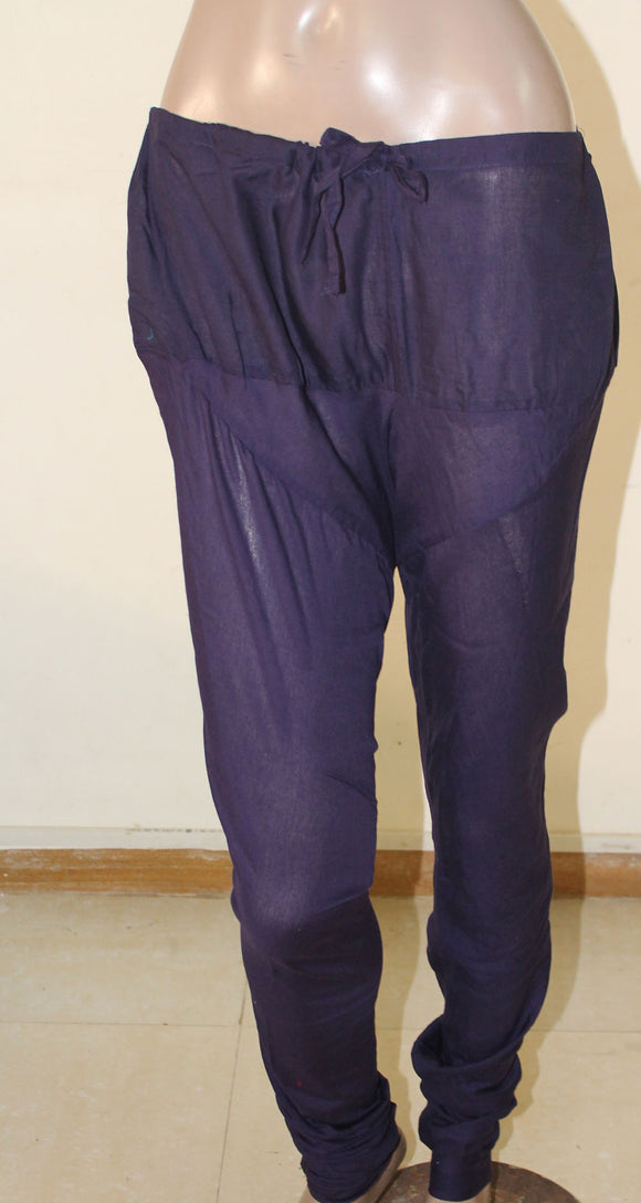 Purple Girls Cotton Churidar Leggings
