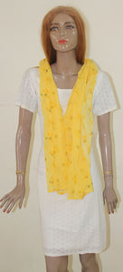 Yellow Long Shawl Dupatta Designer Long Stole Fashion Street Stole