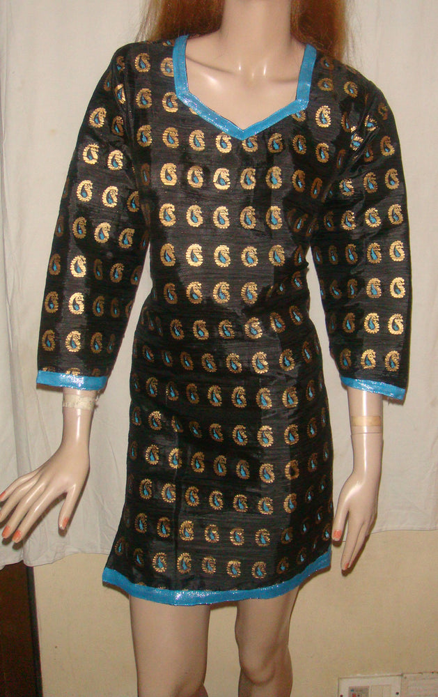 Black  Indian Silk kurta