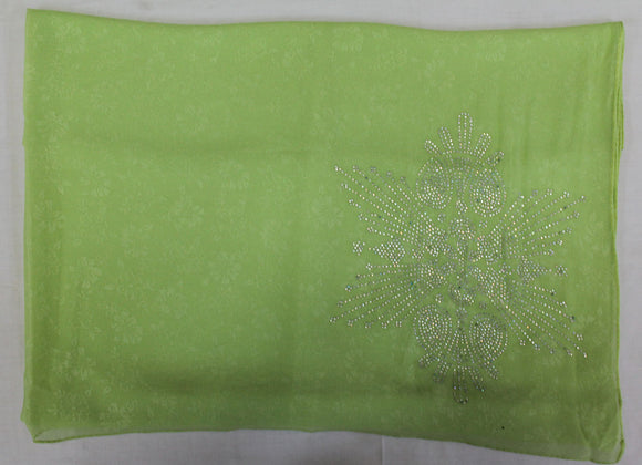 Green Florescent Beaded Bridal  Hijab