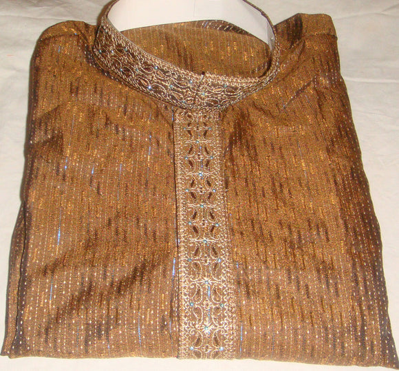 Brown M134 Men Kurta Payjama Size Large