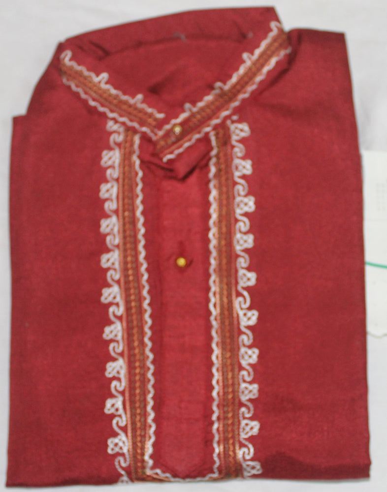 Load image into Gallery viewer, Red   boys Kurta sherwani set for  Age 5