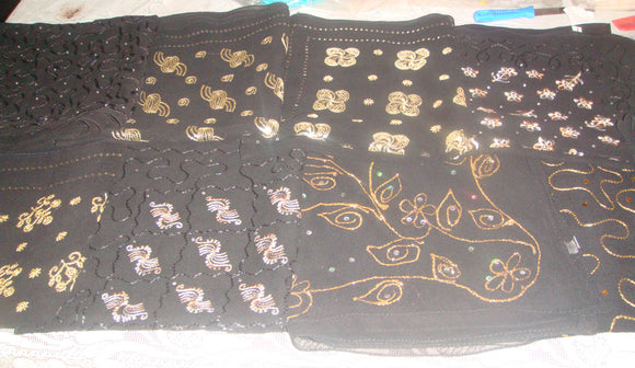 Wholesale Lot of Black Scarves