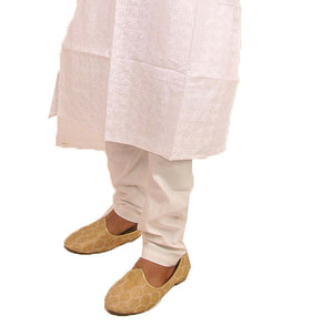 Load image into Gallery viewer, White 100% Cotton Yoga Men Pajama pants kurta all sizes salwar kameez