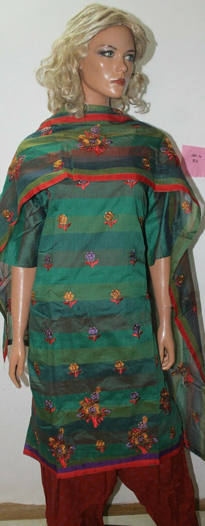 Green  Embroidered Cotton Bollywood Collections  Salwar kameez Chest Size 52
