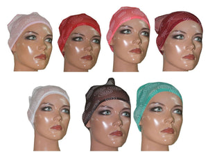 Wholesale Lot of 12 Hijab Band Under scarf Cap