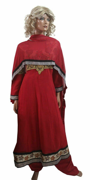 Red Anarkali Salwar kameez Dress chest size 44 Soft Crepe Party wear