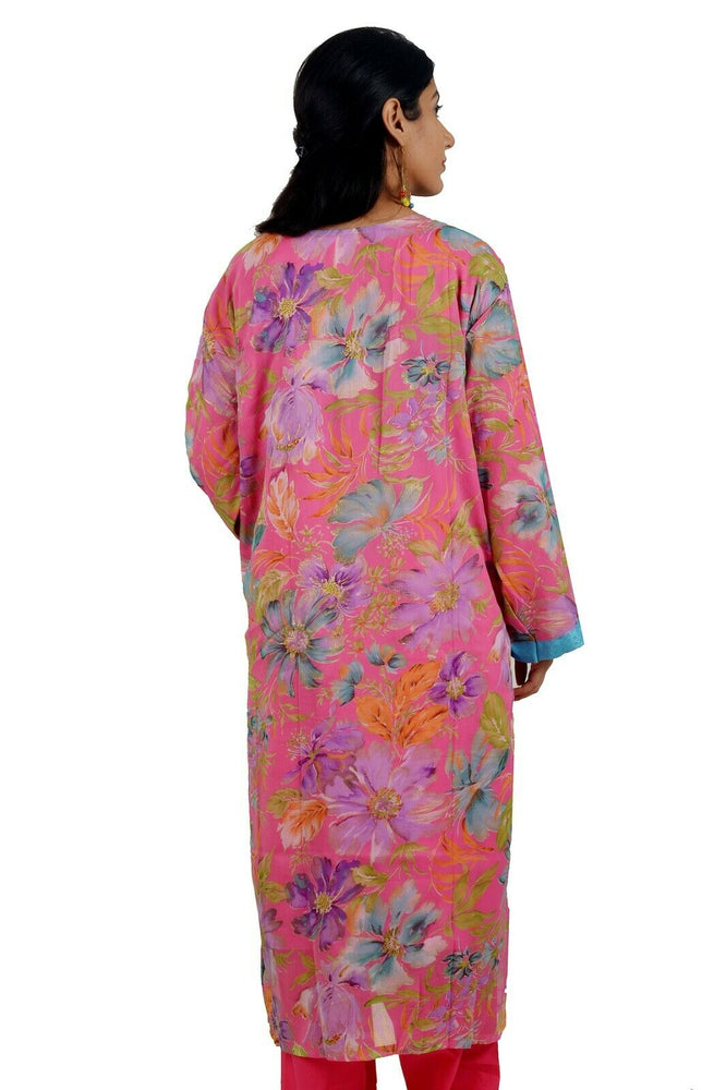 Pink  Printed Designer  Salwar kameez Chest Plus  size 56  Fast ship  5 day