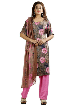Pink Printed Designer Pakistani Traditional Dress Salwar kameez chest size 48