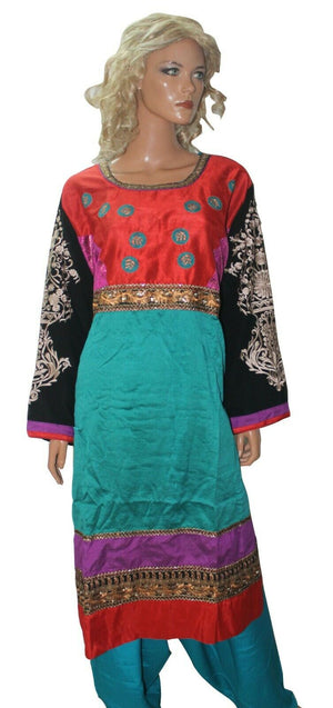 Load image into Gallery viewer, Teal  Anarkali  salwar Kameez Stylish Indian Wedding Party Chest size 56,58