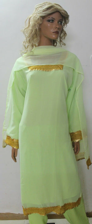 Load image into Gallery viewer, Green  Designer Ready Wear Salwar Kameez  chest 54 Full sleeves Fast ship New