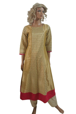 Gold Pink Designer Ladies  Dress salwar kameez Designs By Noor Chest  size  40