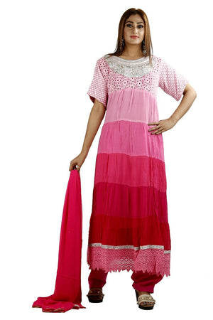 Pink Designer Anarkali Churidar Chest 40 New Arrivals Salwar kameez Dress Gown