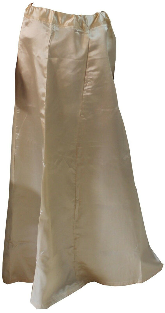 Cream   Luxurious soft satin skirt  Petticoat Underskirt belly dancing  slip