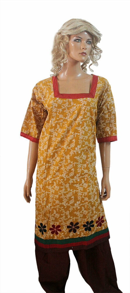 Yellow  Pakistani dress Crepe Designer  salwar Kameez Gorgeous Chest size 50