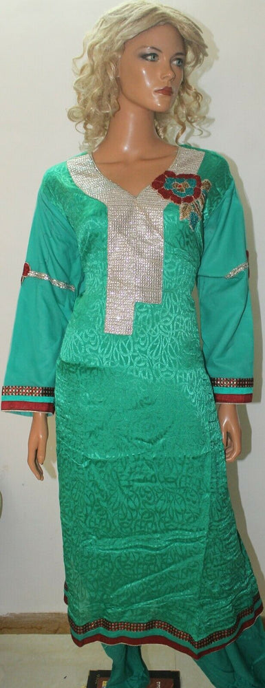 Emerald  Pakistani Designer Party  Wedding  Salwar kameez Chest Plus Size 52