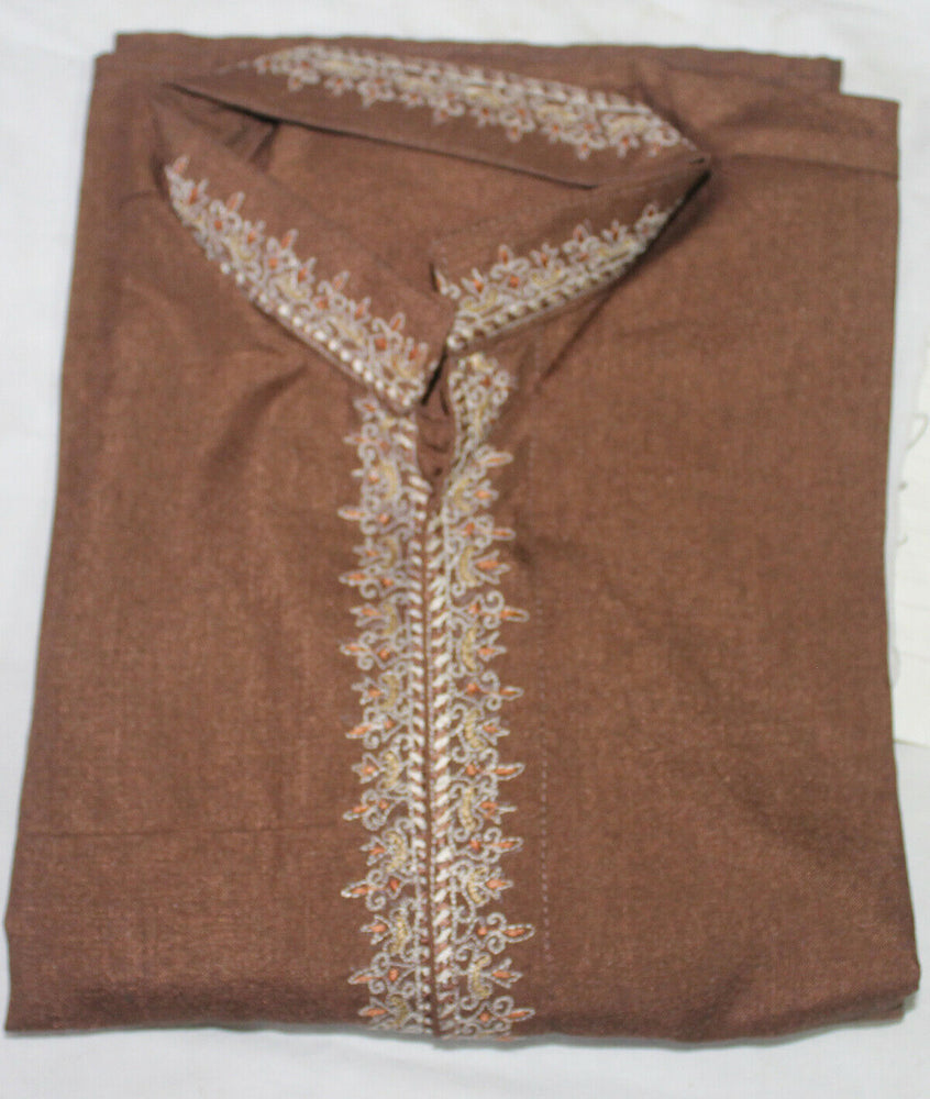 Brown  Boys Kurta pajama Indian Wedding  Festival children Age 2 fast ship