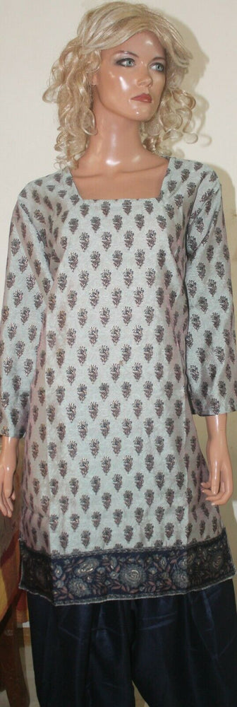 Cream Ready To Wear Crepe Salwar kameez Chest Size 46