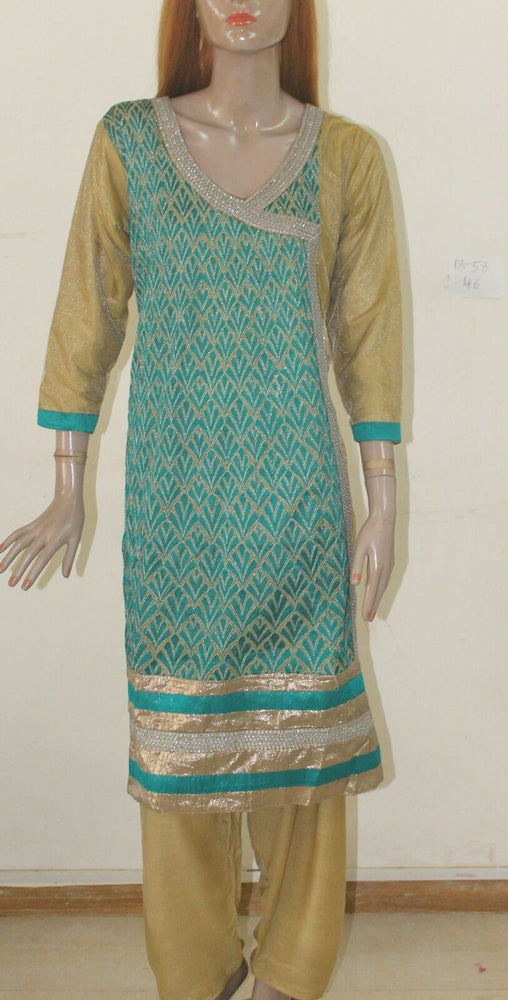 Blue Designer DA-58 Net Collection Chest sz 46 Cotton  Salwar kameez