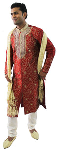 Burgundy Indian Wedding Party Exclusive Designer sherwani