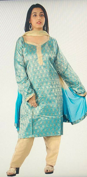 Blue  Designer  Salwar kameez Dress plus size 48,50 Fast shipping within 6 day