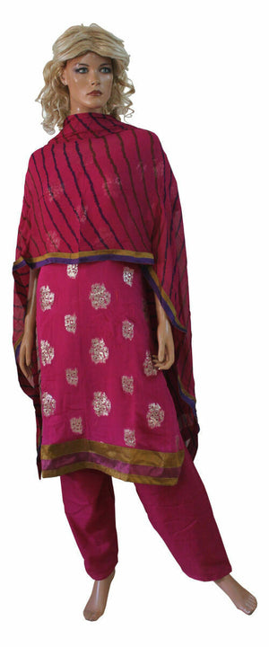 Pink Designer  Salwar Kameez Plus chest 46,48,50,52 Stitched Ready to Wear  New