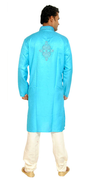 Load image into Gallery viewer, Blue Men Kurta Pajama Set