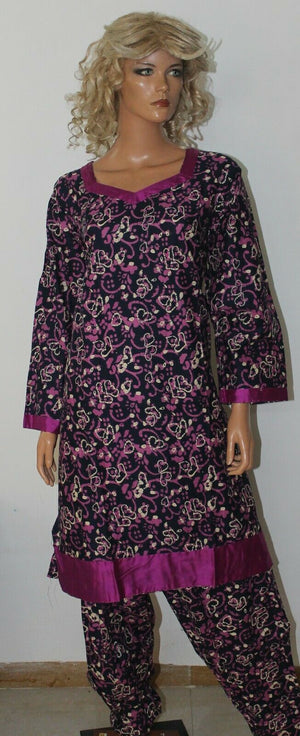 Black Stitched Dress lawn  Cotton Summer  Salwar kameez Ready wear  Plus size 52