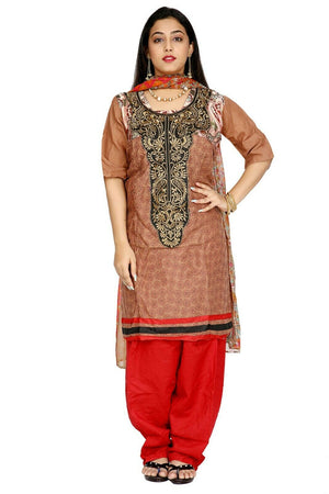 Brown  Designer Ethnic  Traditional  Salwar kameez chest size 48