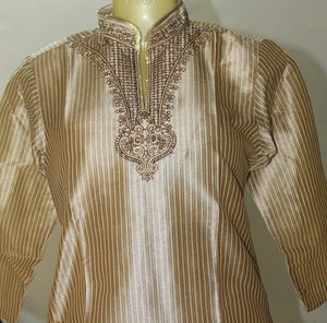 Brown Boys kurta Pajama set With Free Shawl Age ,3,4