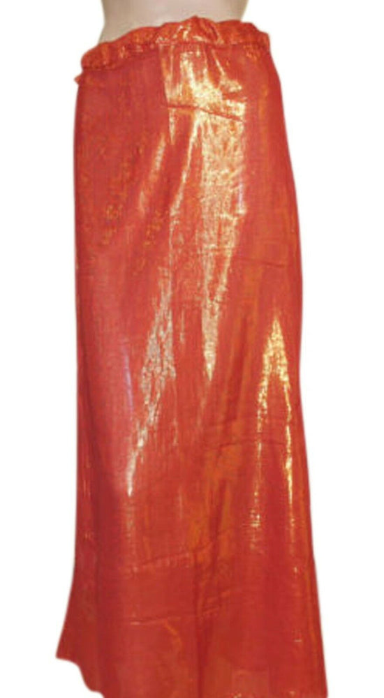 Load image into Gallery viewer, Marron  shimmer Indian saree Petticoat Underskirt belly dancing Lehanga slip