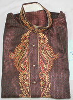 Burgundy Boys  Kurta Sherwani Shirt Set 2 Pieces For  Age 14