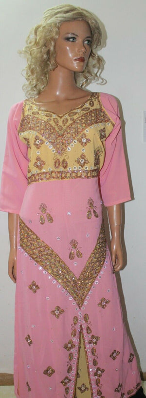 Pink  Kurta  Ready to Wear Long Gown Anarkali chest 38  Fast ship New Two Piece