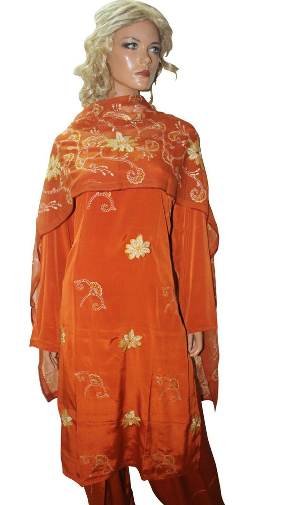 Burn Orange  Ready To  Wear Salwar Kameez  chest Size 50 Full sleeves