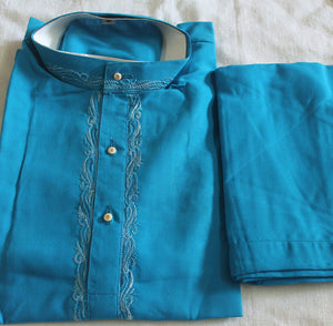 Blue Indian Wedding Party Clothing  Boys Kurta pajama Set New arrivals Age 1
