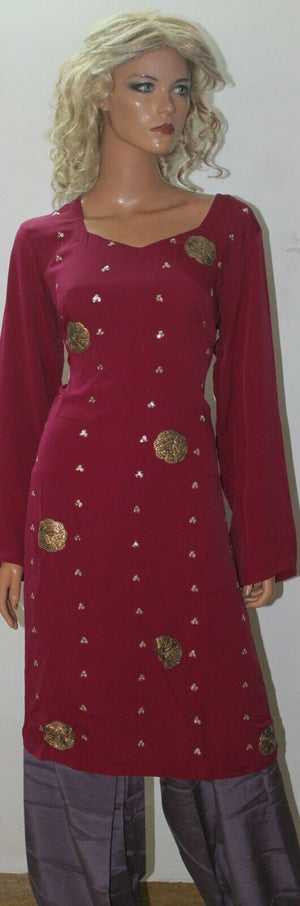Load image into Gallery viewer, Pink  Grey Embroidered  Salwar Kameez Designer Wear Chest size 46