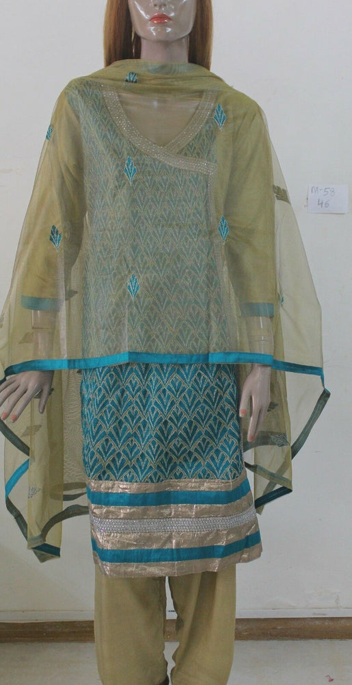 Load image into Gallery viewer, Blue Designer DA-58 Net Collection Chest sz 46 Cotton  Salwar kameez