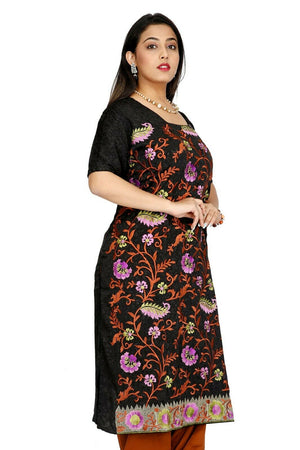 Black Designer  Crepe  Designer Ethnic Indian  Salwar kameez chest size 52