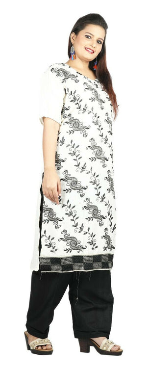 Load image into Gallery viewer, White  Boutique Summer New Stitched Designer salwar kameez  Plus size 54