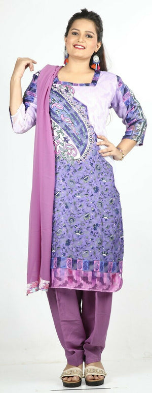 Purple Designer Ready Made Salwar Kameez  chest 46 Full  sleeves Fast ship New