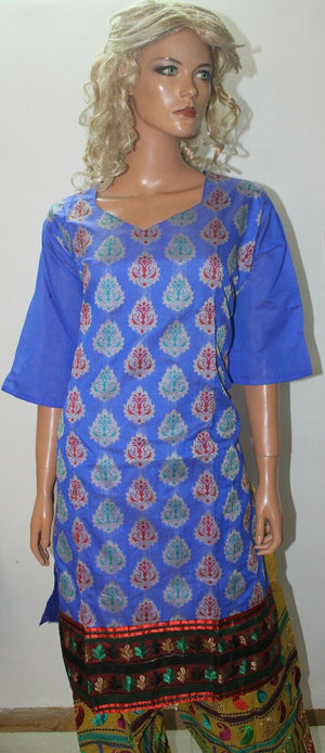 Blue Pakistani Chanderi Embroidered  Wedding  Salwar kameez Plus  size 52